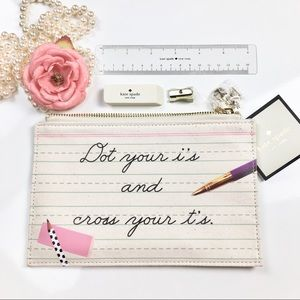 Kate spade New York Dot your i's pencils pouch